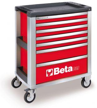 Beta C39 R/7 Mobile Roller Cab 7 Drawers (Red)